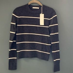 NWT Vince 100% cashmere striped sweater
